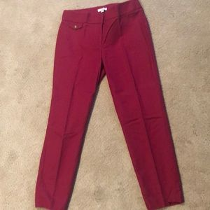 Red ankle pants